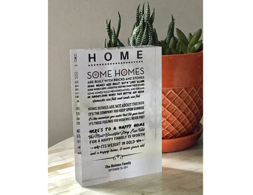 Home - Acrylic Glass Block (Customizable Gift)