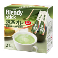 AGF, Blendy stick Matcha au lait 21sticks-AGF-Price JPN