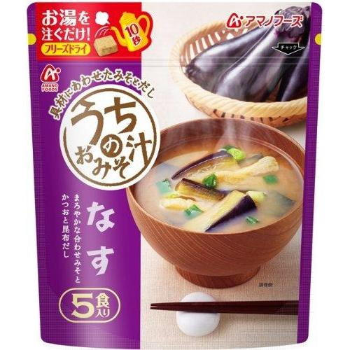 AMANO, Miso Soup with Eggplant, Instant 5 servings 1.57oz-AMANO-Price JPN