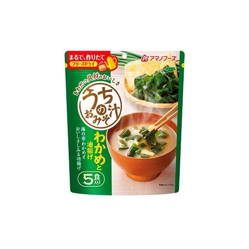 AMANO, Miso Soup with Wakame Seaweed & Deep Fried Tofu, Instant 5 servings 1.16oz-AMANO-Price JPN