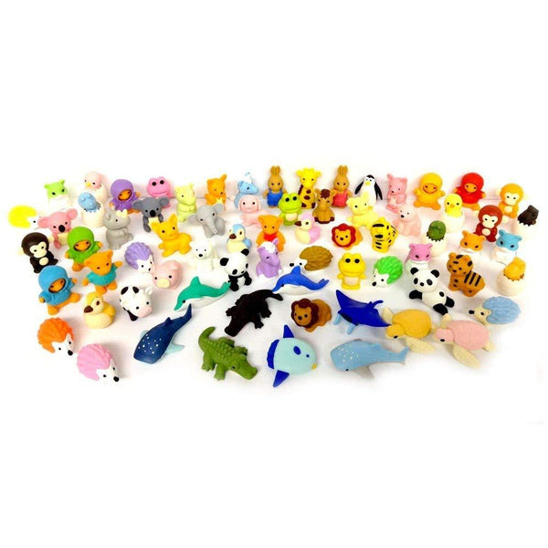 Iwako Pencil Erasers Assorted Animal Collection, Pack of 10 (Randomly Selected)-Iwako-Price JPN