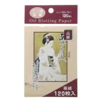 Japanese Premium Oil Blotting Paper 120 Sheets Large 3.93in x2.75in-Jouetsu-Price JPN