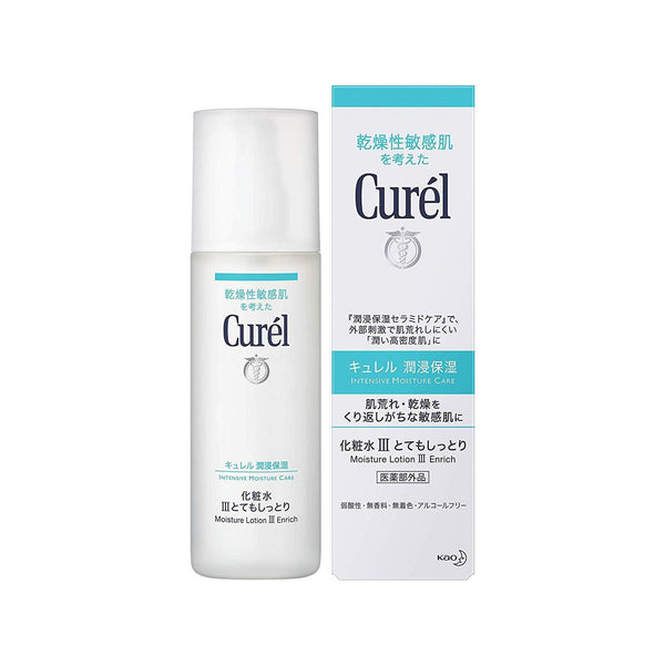 Kao, Curel, Face Care, Moisture Lotion Ⅲ Enrich, Intensive Moisture Care 5.07us fl oz (150ml)-Kao-Price JPN