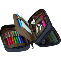 LIHIT LAB. Double Zipper Pen Case, 7.9 x 2.8 x 4.7 inches-LIHIT LAB-Price JPN