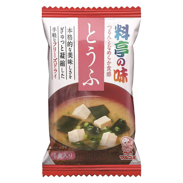 "Marukome, Miso Soup with Tofu, ""Traditional Japanese-style restaurant Flavor"" Instant 1 servings 0.25oz-Marukome-Price JPN"