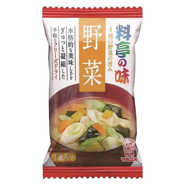 "Marukome, Miso Soup with Vegetables, ""Traditional Japanese-style restaurant Flavor"" Instant 1 servings 0.32oz-Marukome-Price JPN"
