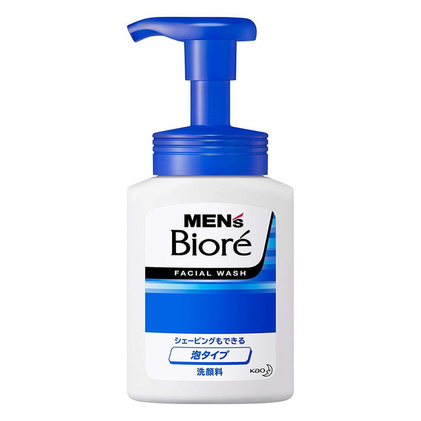 MEN'S Biore FACIAL WASH, 2-in-1 Face Wash & Shave Foam, Form Type, 5us fl oz (150ml)-Biore-Price JPN