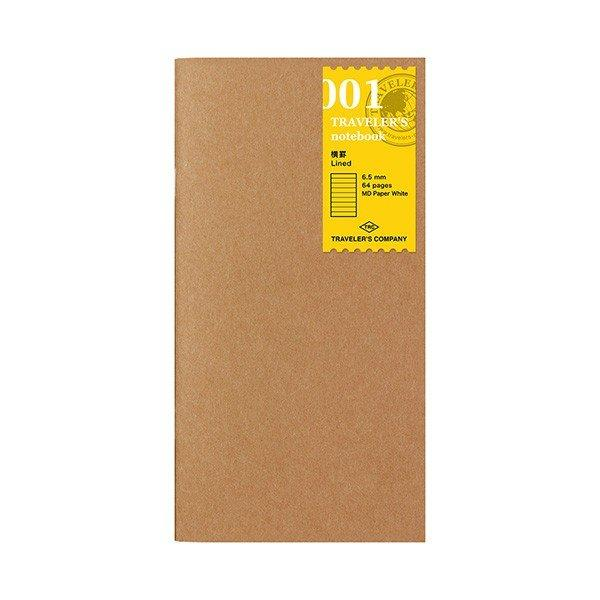 Midori Traveler's Notebook Refill #001 Horizontal Rule, Ruled Line, 64 pages (14245006)-Midori-Price JPN