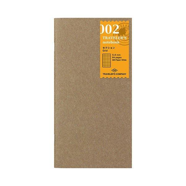Midori Traveler's Notebook Refill #002 Section, Ruled Line, 64 pages (14246006)-Midori-Price JPN