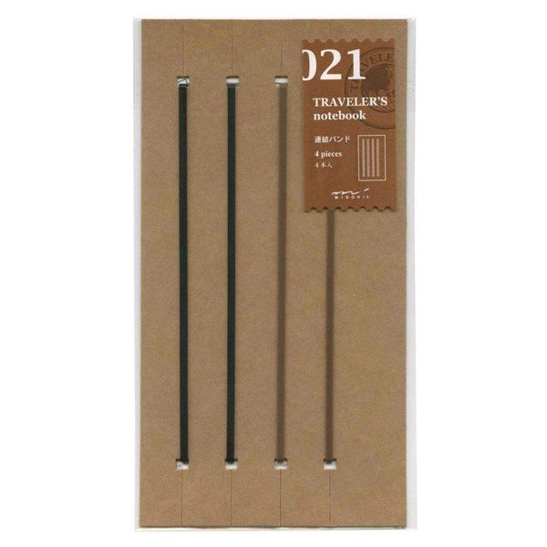 Midori Traveler's Notebook Refill #021 Connecting Rubber Band, 4 pieces (14333006)-Midori-Price JPN