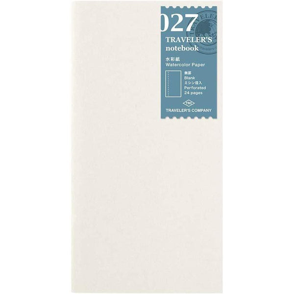 Midori Traveler's Notebook Refill #027 Watercolor Paper, Perforated 24 pages (14401006)-Midori-Price JPN