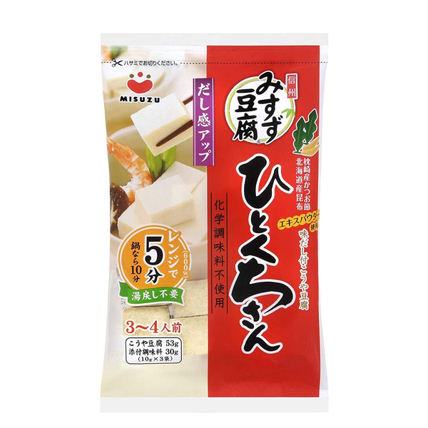 "MISUZU, Freezed Dried Tofu ""Bite-Size"", 5-Minute Microwave, 3-4 servings 2.93oz-MISUZU-Price JPN"