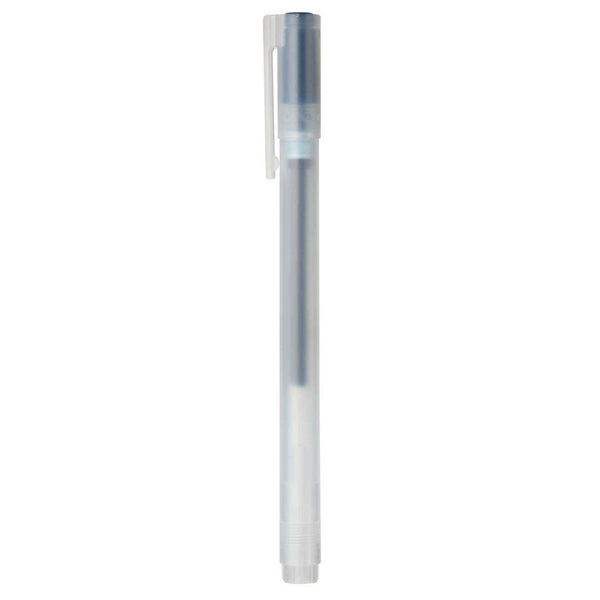 Muji Gel Ink Ball Point Pen Cap Type, 0.38mm, Blue Black-Muji-Price JPN