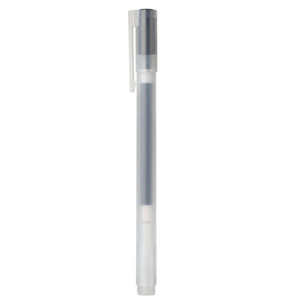 Muji Gel Ink Ball Point Pen Cap Type, 0.7mm, Black-Muji-Price JPN