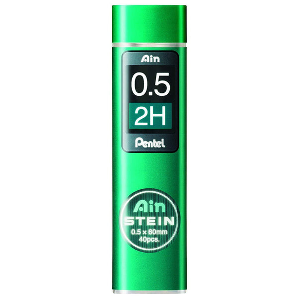Pentel Ain Stein Mechanical Pencil Lead, 0.5mm 2H, 40 Leads (C275-2H)-Pentel-Price JPN