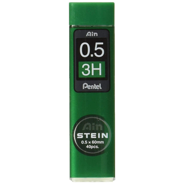 Pentel Ain Stein Mechanical Pencil Lead, 0.5mm 3H, 40 Leads (C275-3H)-Pentel-Price JPN