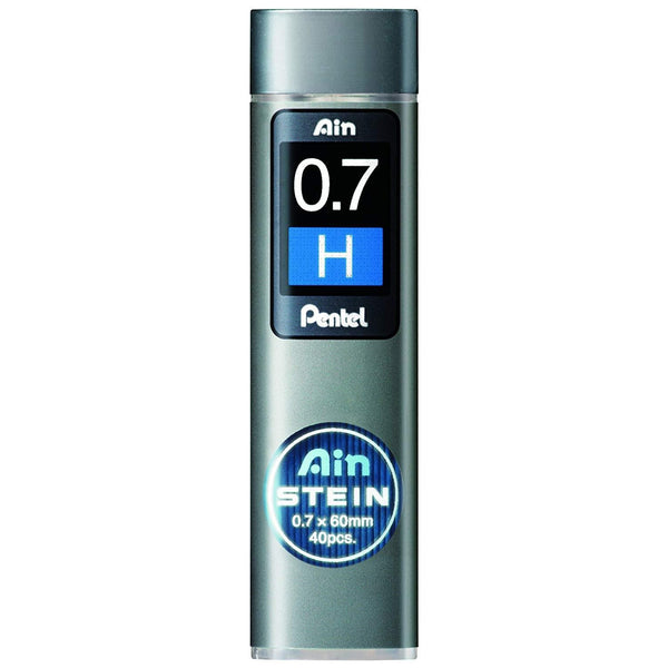 Pentel Ain Stein Mechanical Pencil Lead, 0.7mm H, 40 Leads (C277-H)-Pentel-Price JPN