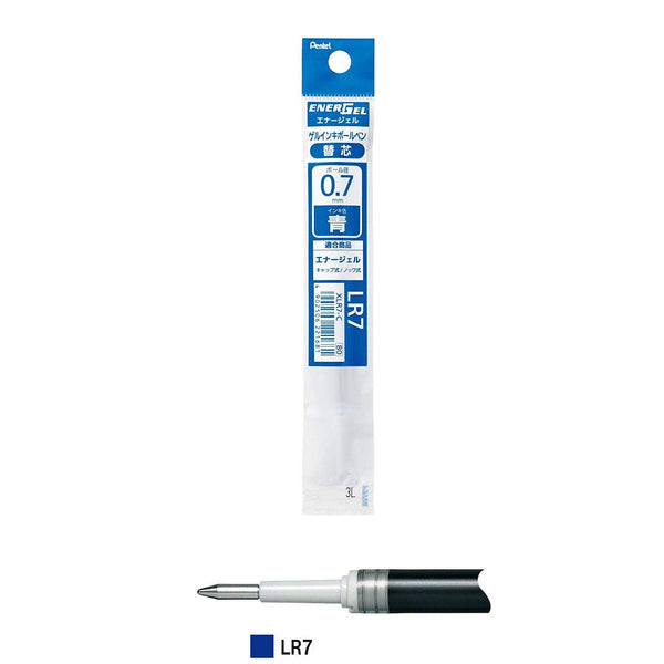 Pentel Refill Ink for EnerGel RTX Retractable Liquid Gel Pen Extra Fine Line Needle Tip, 0.7mm, Blue (XLR7-C)-Pentel-Price JPN
