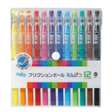 Pilot FriXion Pencil, 0.7mm Ballpoint Pen, 12 Colors Set (LFP-156FN-12C)-Pilot-Price JPN