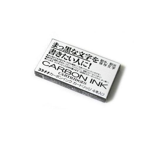 Platinum Carbon Pen Ink Cartridge - Pack of 4 - Black (SPC-200#1)-Platinum-Price JPN