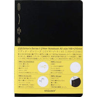STALOGY 018 Editor's Series 1/2 Year notebook (A5/Black) S4108-STALOGY-Price JPN