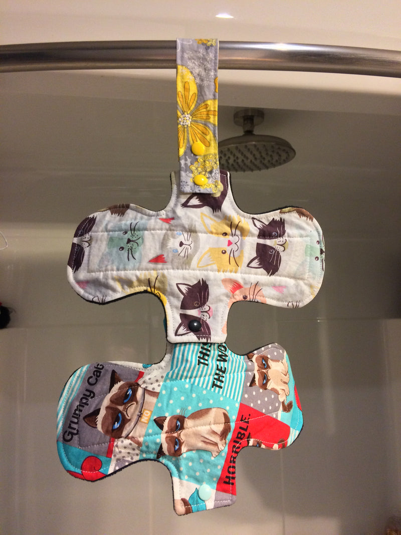"Cloth pad drying strap ""Day of the Dead"""