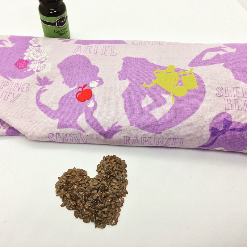 Flaxseed heatbag scented with cucumber melon fragrance oil - Spoiled Sew Rotten