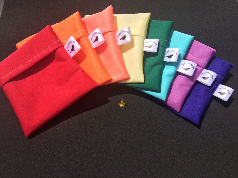 Rainbow selection of pad wrappers