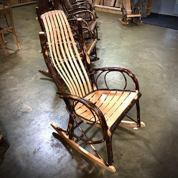 Oak Rocking Chair with Willow Branch Accents