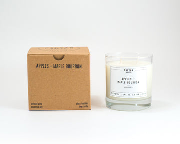 Glass Tumbler Soy Candle - Apples/Maple Bourbon