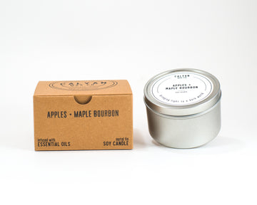 Metal Tin Soy Candle - Apples/Maple Bourbon