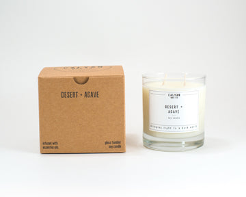 Glass Tumbler Soy Candle - Desert/Agave