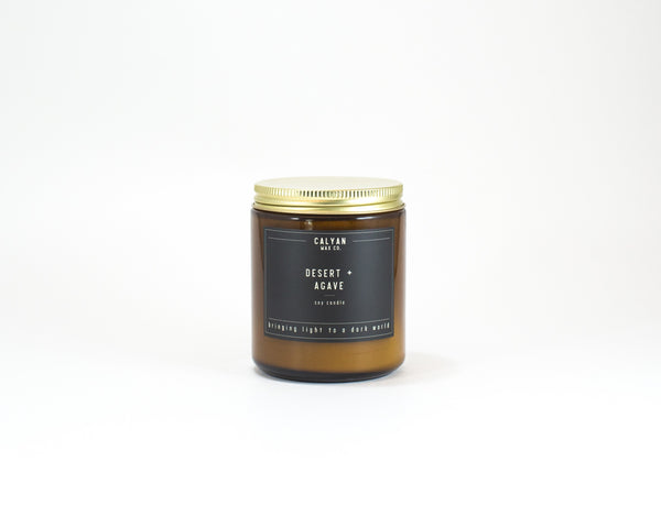 Amber Jar Soy Candle - Desert/Agave-Calyan Wax Co-candle