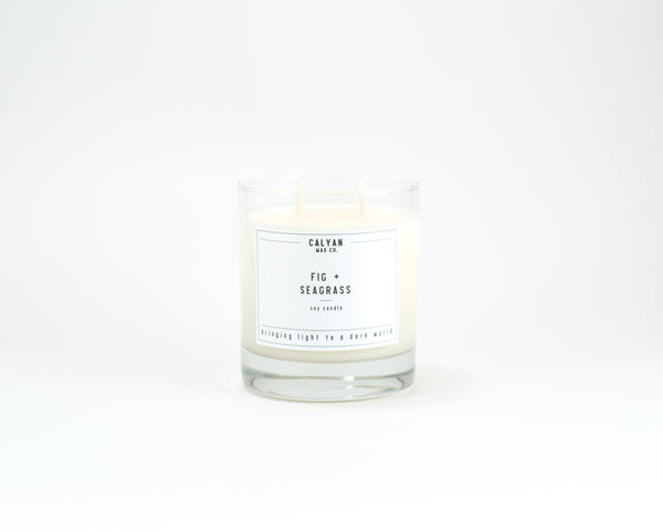 Glass Tumbler Soy Candle - Fig/Seagrass