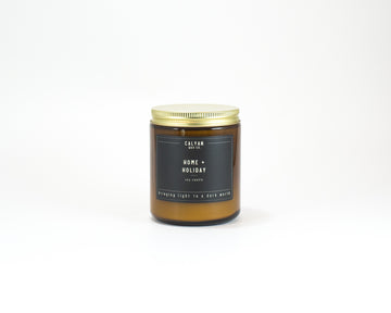 Amber Jar Soy Candle - Home/Holiday