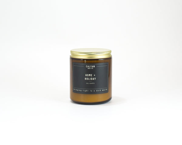 Amber Jar Soy Candle - Home/Holiday-Calyan Wax Co-candle