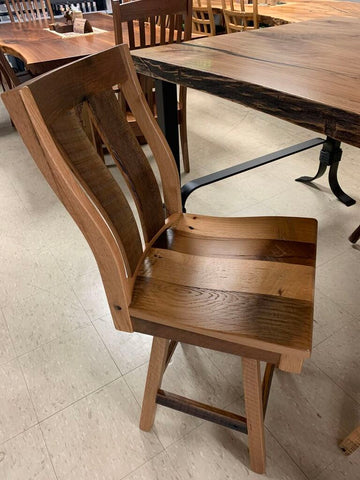 Reclaimed White Oak High Chair