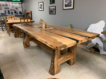 Live Edge Bookmatch Maple Dining Table