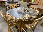 Live Edge Buckeye Burl Pub Table-The Phillips Forest Store-live edge dining table
