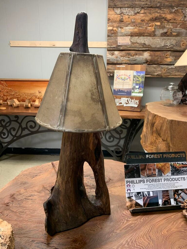 Natural Wooden Table Lamp