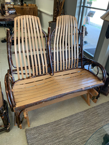 Oak With Willow Accents Double Rocker