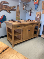 Custom Oak Hardwood Island T107