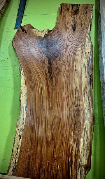 Live Edge Spalted Red Oak Slab LES074