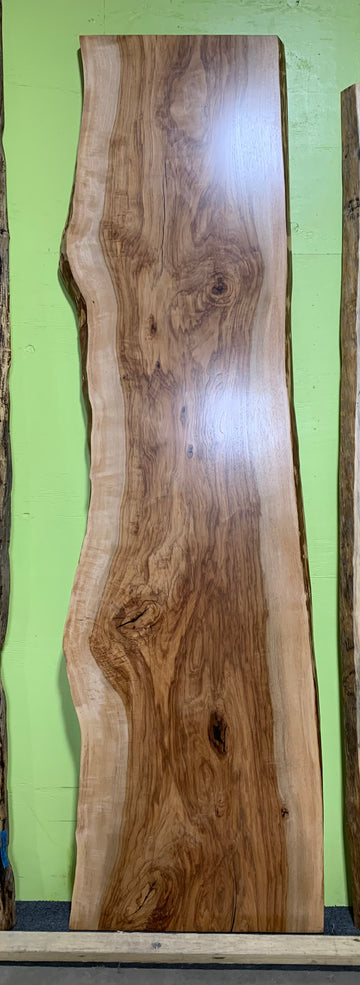 Live Edge Red River Pecan Slab LES151