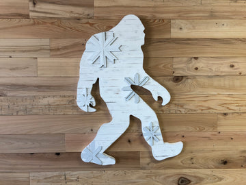 Wood Art White Sasquatch