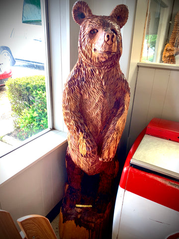 Wooden Honey Bear Sculpture