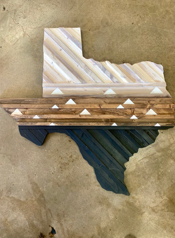 Texas Wood Wall Art -Central Texas