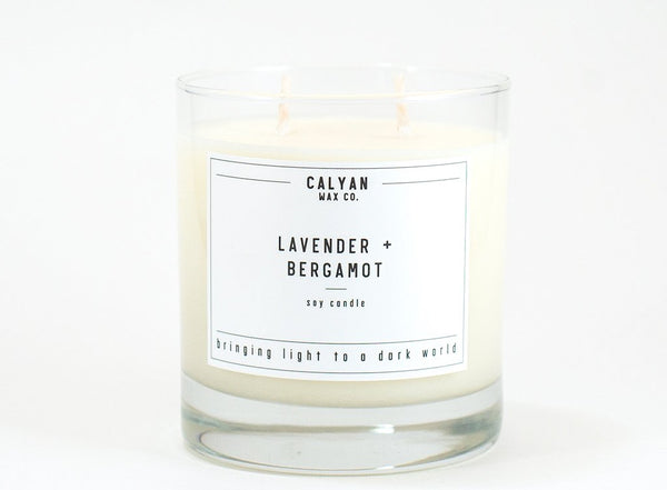 Glass Tumbler Soy Candle - Lavender/Bergamot-Calyan Wax Co-candle