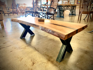 Live Edge Pecan Coffee Table T108