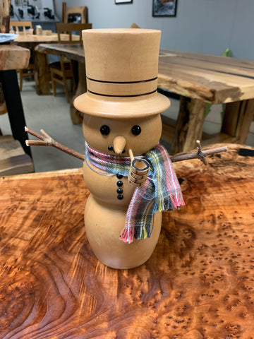 Wood Art. Wooden Snowman